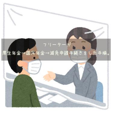 フリーターが厚生年金→国民年金→減免申請手続きをした手順。