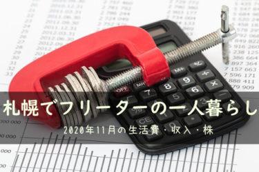 2020年11月札幌でフリーターの一人暮らしの生活費・収入・株