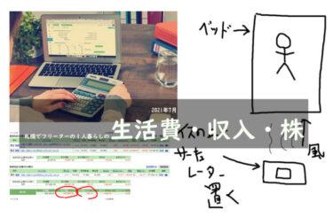 2021年7月札幌でフリーターの1人暮らしの生活費・収入・株